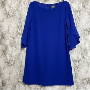 Vince Camuto Blue Dress with detailed sleeves